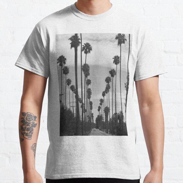 Vintage Black & White California Palm Trees Photo Classic T-Shirt