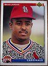 302 - Brian Jordan by Foob's Baseball Cards