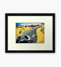 A ride through the country Framed Print