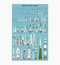 Rockets of the World Infographic Photographic Print
