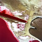 Salt flat abstract. by Michelle Dry