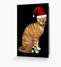 Red Tabby Got Christmas Feeling Greeting Card