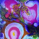Pink, White and Yellow Abstract by Angela ILIADIS