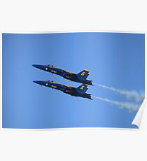 Blue Angels In Double Formation Poster