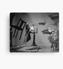 Dali Atomicus - by Philippe Halsman - Enhanced Metal Print