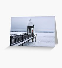 Swimming Hut in the Winter  Greeting Card