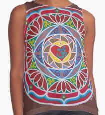 The Heart of Love Mandala Contrast Tank