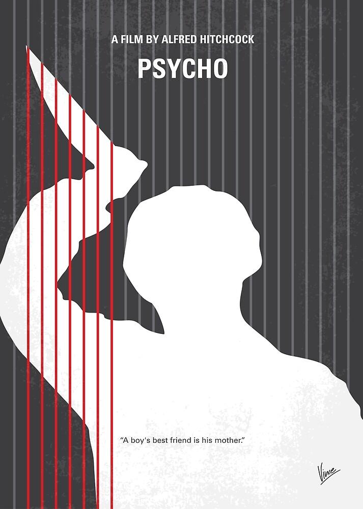 No185- Psycho minimal movie poster by ArtBoyVince