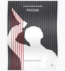 No185- Psycho minimal movie poster Poster