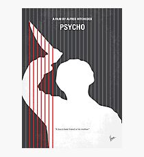 No185- Psycho minimal movie poster Photographic Print