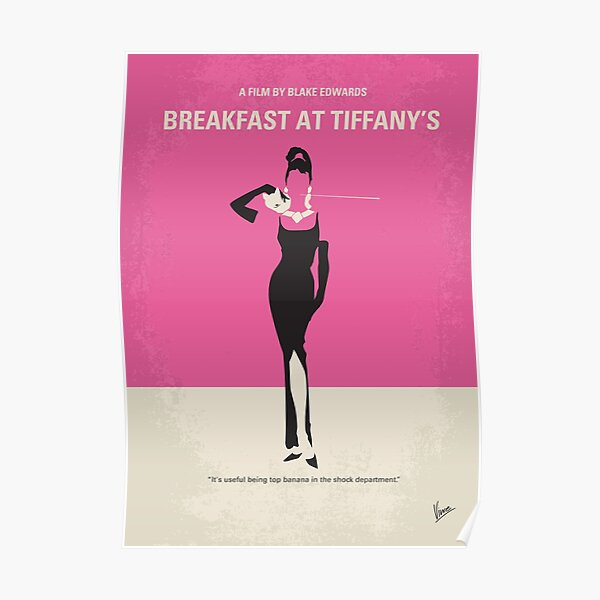 No204- Breakfast at Tiffanys minimal movie poster Poster