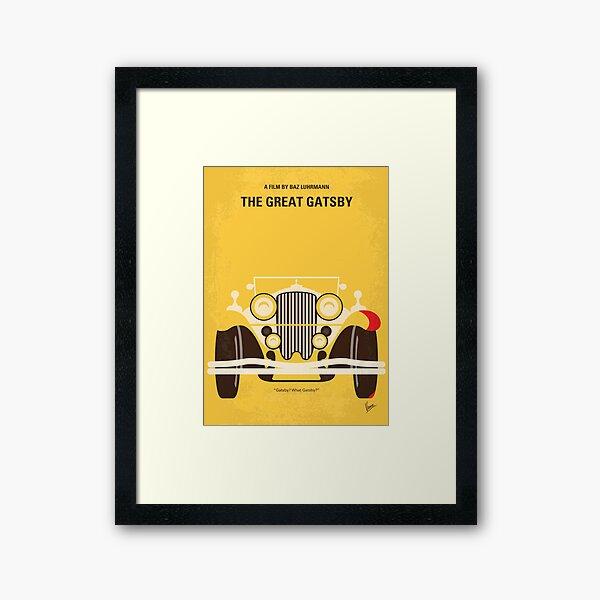 No206- The Great Gatsby minimal movie poster Framed Art Print