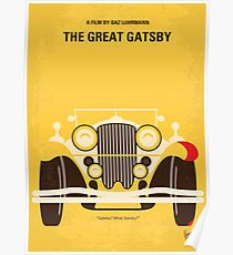 No206 - The Great Gatsby minimales Filmplakat Poster