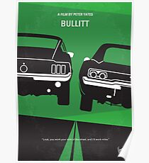 No214- BULLITT minimal movie poster Poster