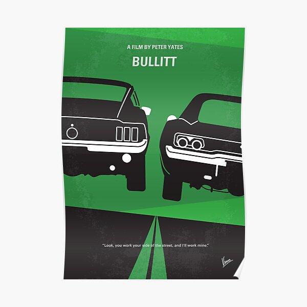 No214- BULLITT affiche minimale du film Poster