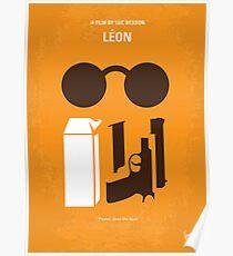 No239- LEON minimal movie poster Poster