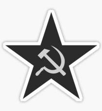 Hammer and Sickle Star Sticker