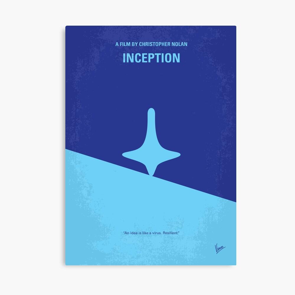 No240- Inception minimales Filmplakat Leinwanddruck