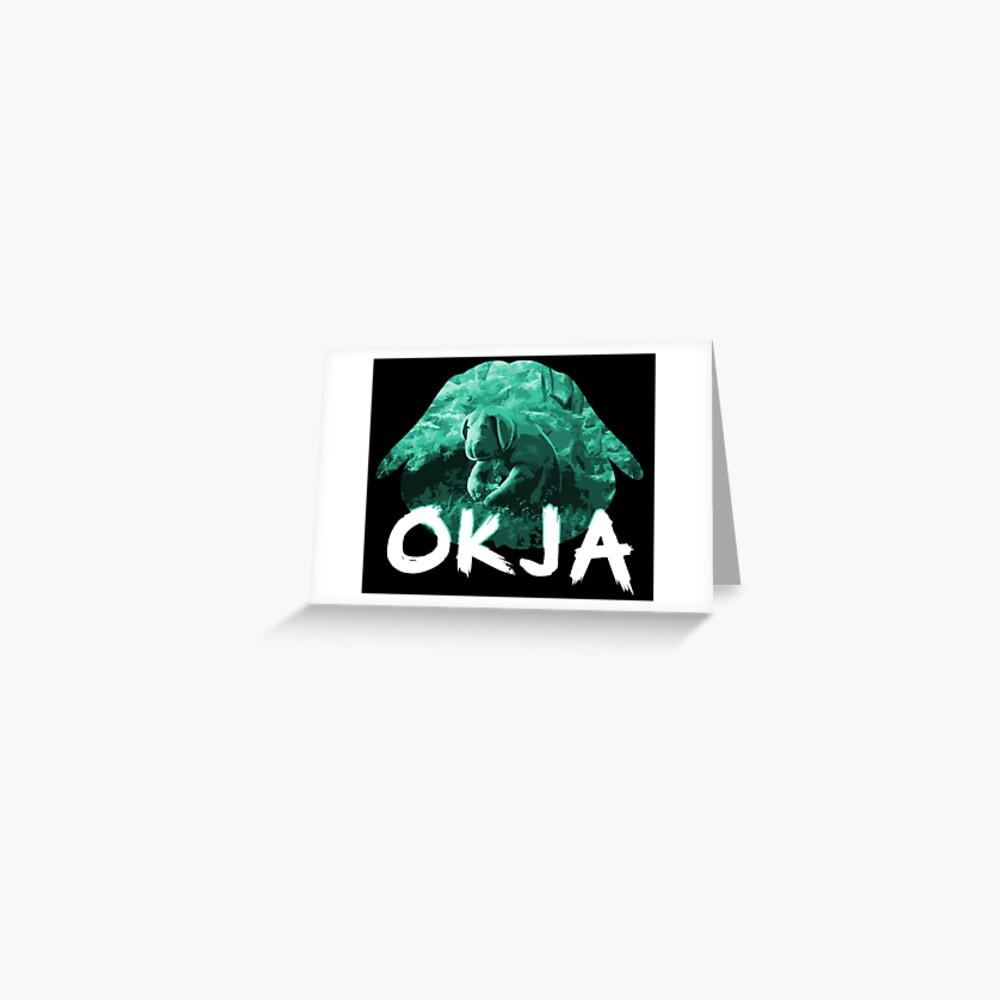 Okja green Greeting Card