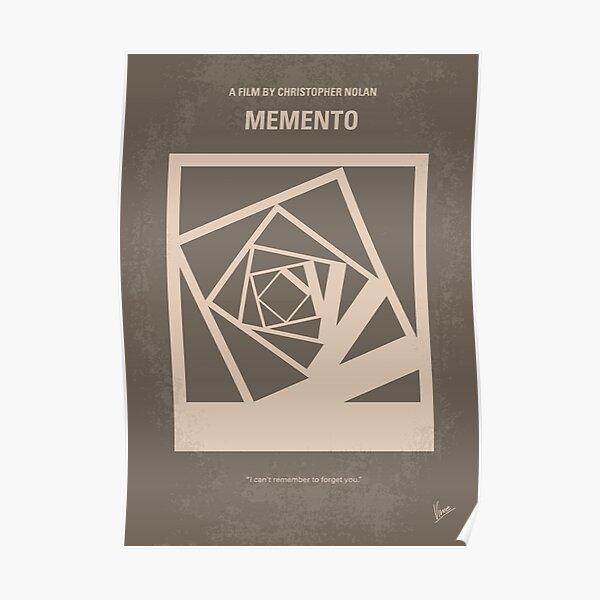 No243- Memento minimal movie poster Poster