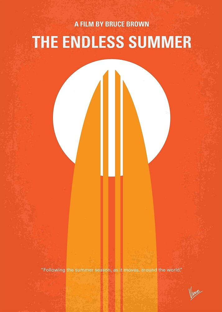 quotno274 the endless summer minimal movie posterquot by