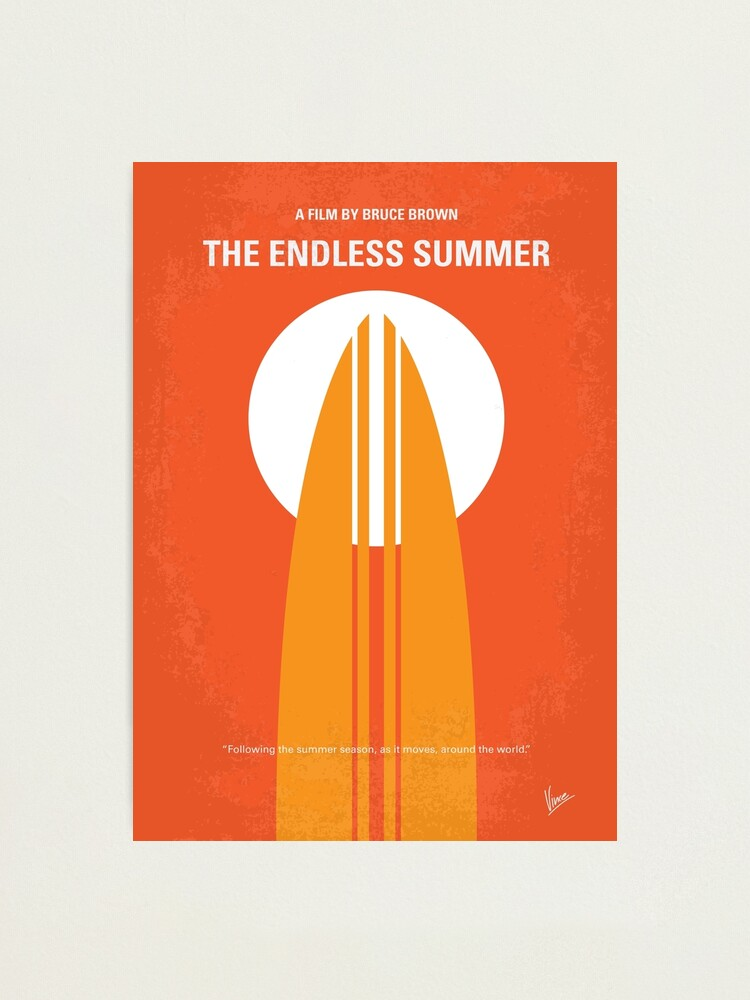 No274 The Endless Summer Minimal Movie Poster Photographic Print By Artboyvince Redbubble