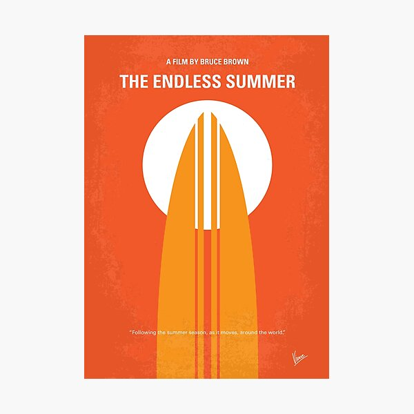 No274- The Endless Summer minimal movie poster Photographic Print