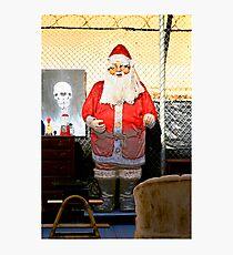 Junkyard Santa Photographic Print