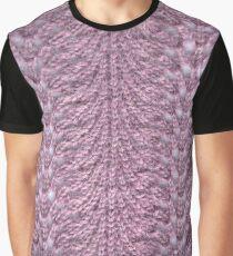Purple lace knit detail Graphic T-Shirt