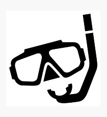 Diving Mask Silhouette (Snorkels) Photographic Print