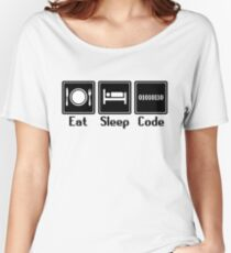 Eat Sleep Code Women's Relaxed Fit T-Shirt