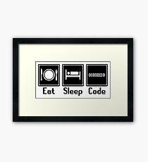 Eat Sleep Code Framed Print