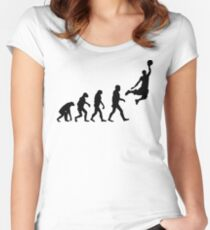 Evolution of Basketball Women's Fitted Scoop T-Shirt