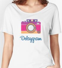 Funny Vintage Polaroid Camera Women's Relaxed Fit T-Shirt