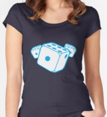 Three blue dice Women's Fitted Scoop T-Shirt