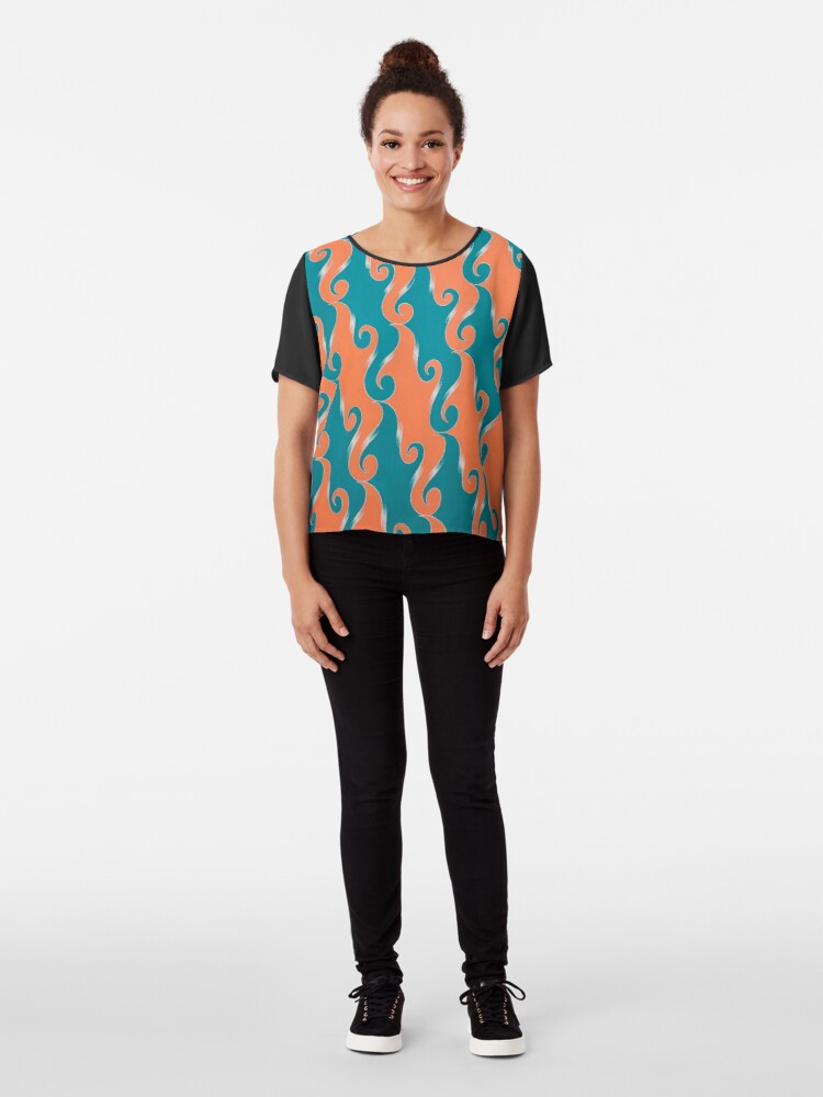 Alternate view of Step & Repeat, No. 2 Chiffon Top