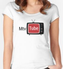 Funny Vintage Music Television Women's Fitted Scoop T-Shirt