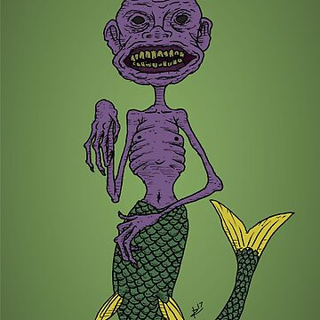 The Amazing Fiji Mermaid by zigmenthotep