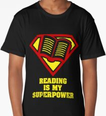Reading Is My Superpower Shirt Long T-Shirt