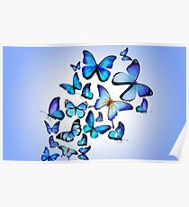 butterfly_colorful_blue_drawing_art_beautiful_96133_3840x2400 Poster