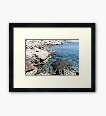 Turquoise waters of Mediterranean sea Framed Print