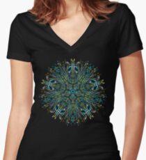 mandala 2 Women's Fitted V-Neck T-Shirt