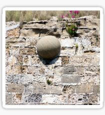 Stone core stuck in the wall Sticker