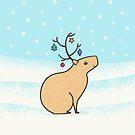 Christmas Capybara by Zoe Lathey