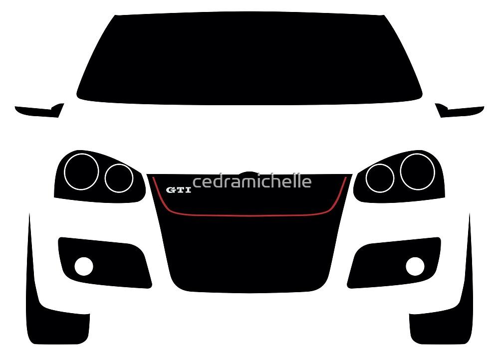 Vw Golf Gti Mk5 Silhouette By Cedramichelle Redbubble