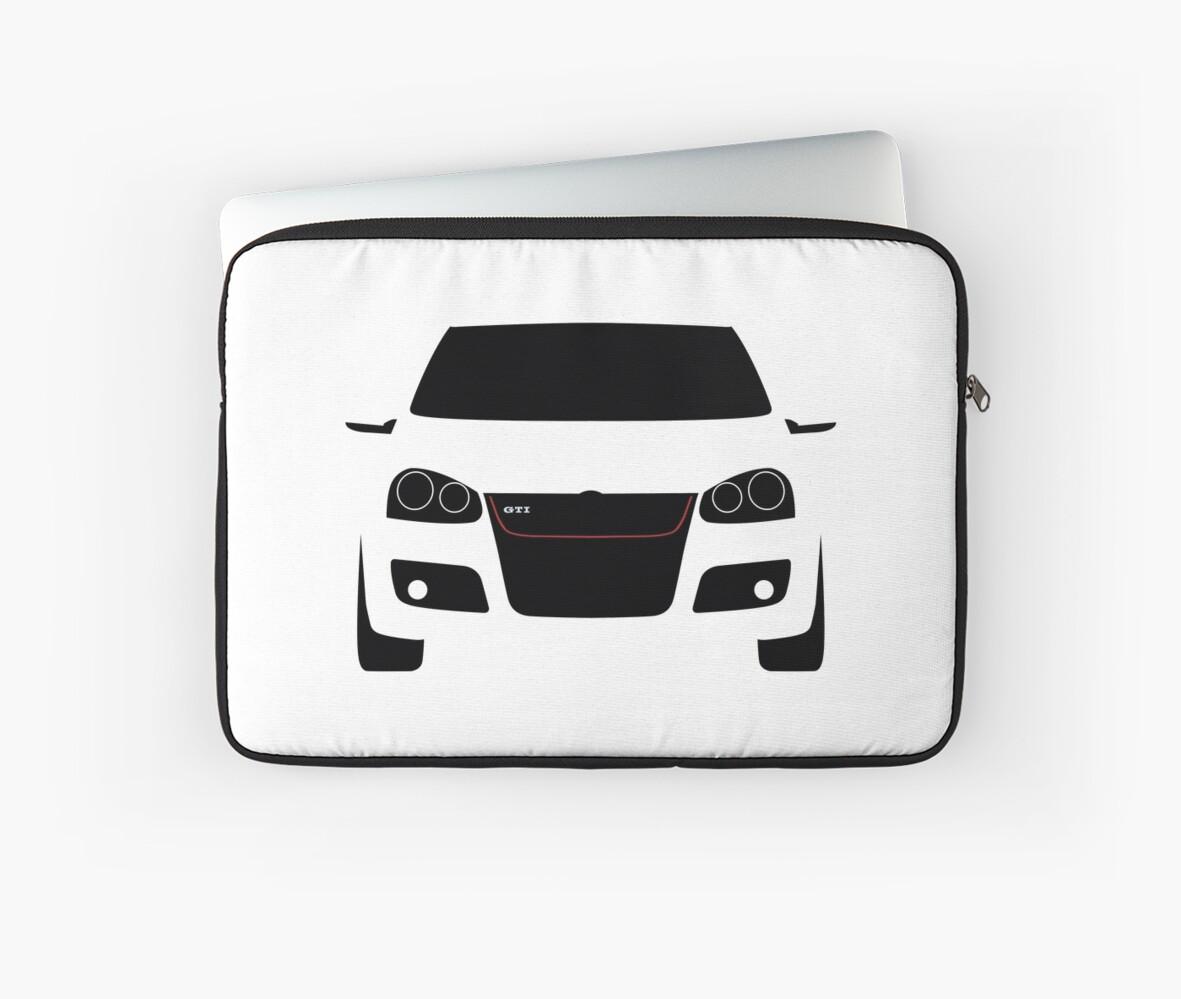 Vw Golf Gti Mk5 Silhouette Laptoptaschen Von Cedramichelle