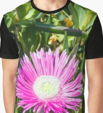 Pink Lampranthus flower Graphic T-Shirt