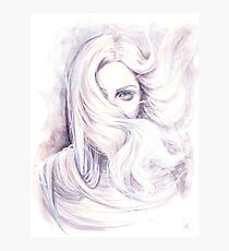 """Watercolour and ink painting """"Aura"""" Wind element Photographic Print"""