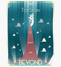 Toy Story Poster Art Deco minimal Buzz Lightyear Poster