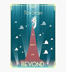Toy Story Poster Art Deco minimal Buzz Lightyear Photographic Print